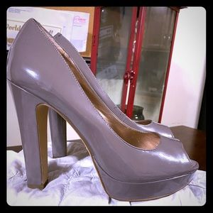 BCBGeneration peep toe thick high heel shoes
